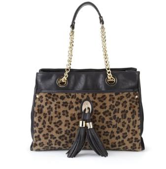 Per Una Leopard Print Tassle Tote Bag