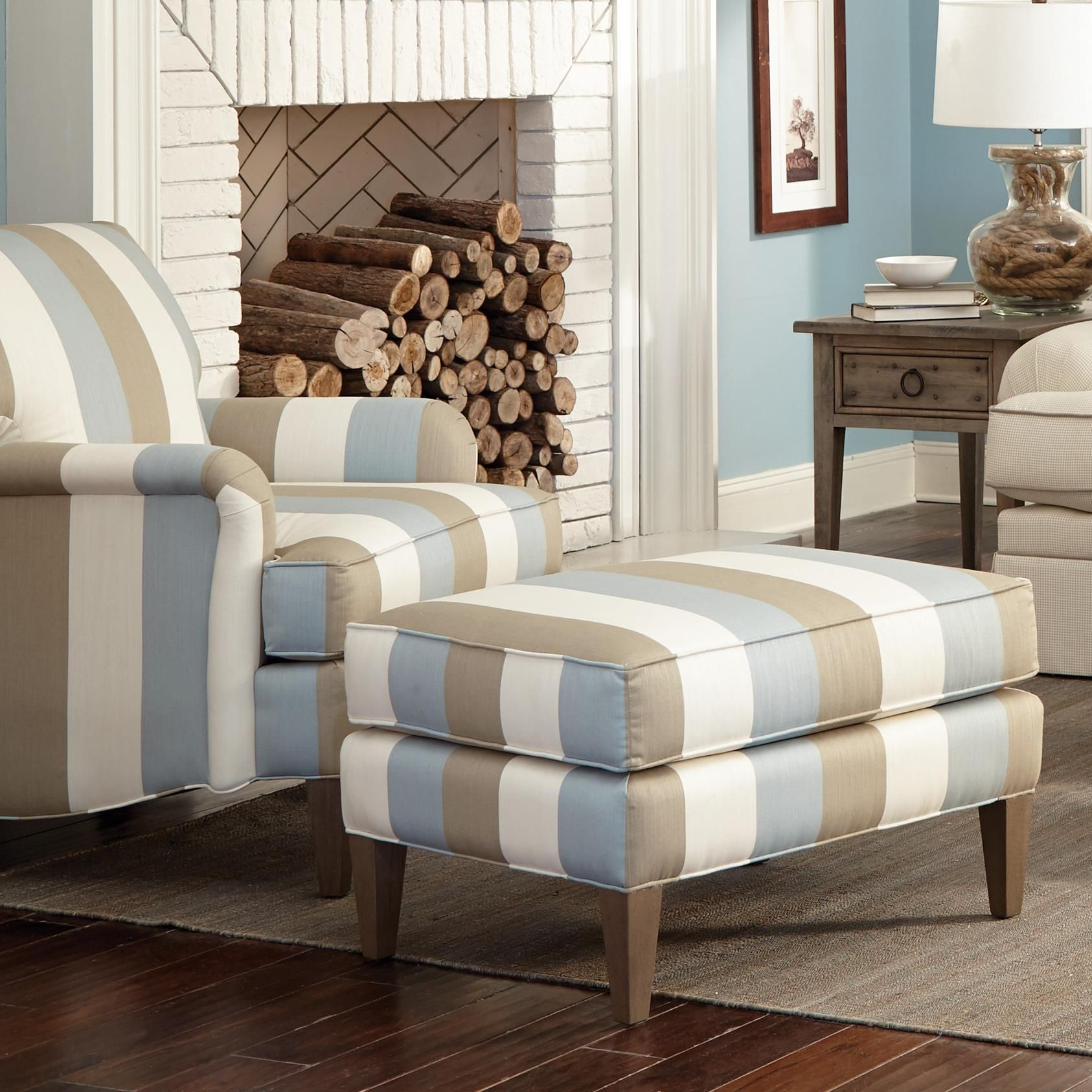 Best Transitional Chair And Ottoman Set By Craftmaster Lounge 400 x 300