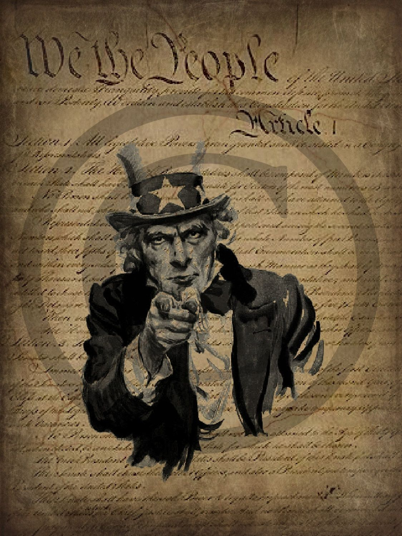 Primitive Constitution Uncle Sam Patriotic By