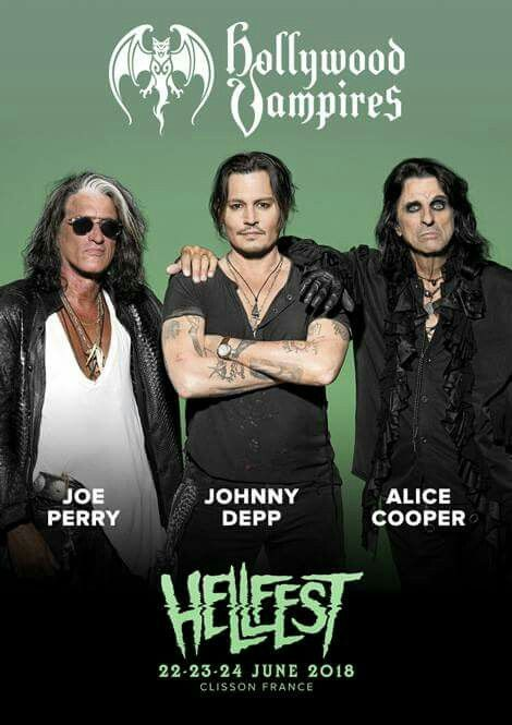 Hollywood Vampires Will Play Hellfest 2018 Cool Posters