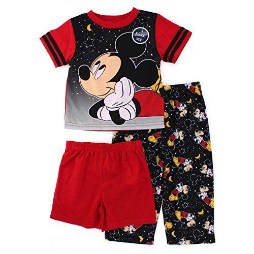 Mickey Mouse Pajamas 2pc Set Boys Sleepwear Select Size Infant Mos Toddler NWT