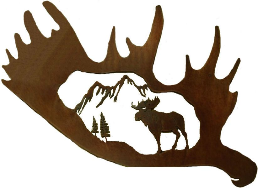 Pin By Jason Getz On Scrollsaw Patterns Moose Silhouette Moose