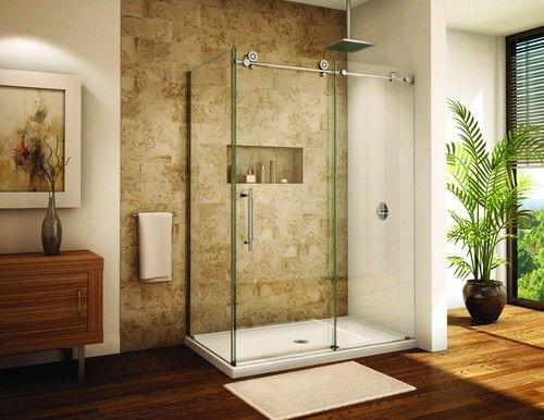 Sliding Glass Shower Door Alumax Pipeline Frameless Shower