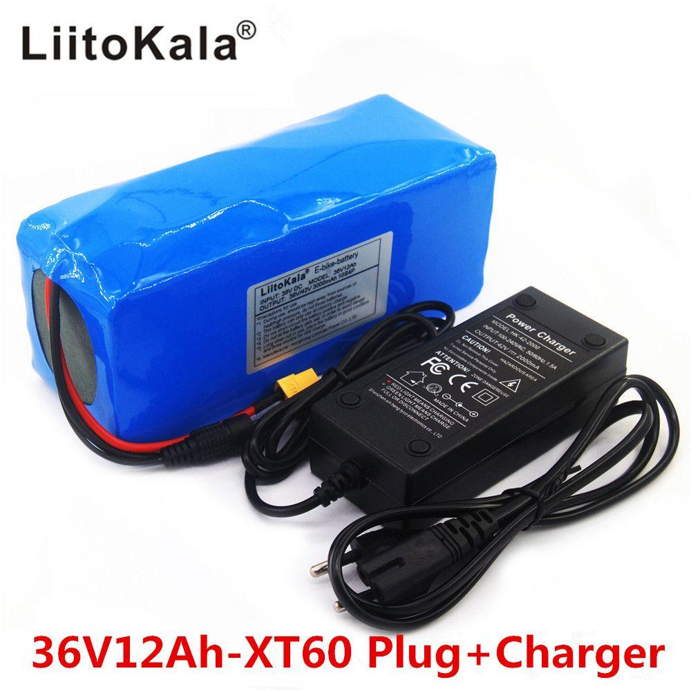 Liitokala 36v 12ah Electric Bike Battery Built In 20a Bms Lithium