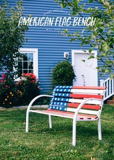 1ad42bd99fe4 This DIY American Flag Bench is the perfect craft project for any patriotic  holiday celebration