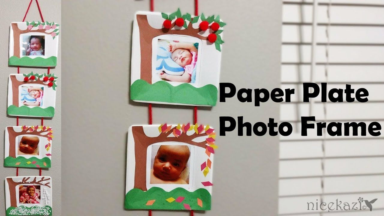 Diy Paper Plate Photo Frame Photo Frame Using Paper Plate Paper