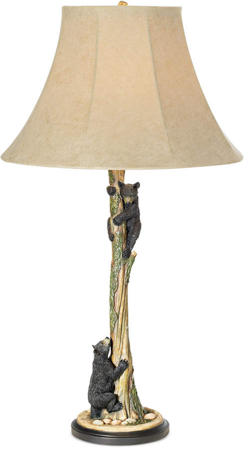 Pacific Coast Climbing Bears Table Lamp Reviews All Lighting Home Decor Macy S In 2021 Rustic Table Lamps Table Lamp Table Lamp Wood