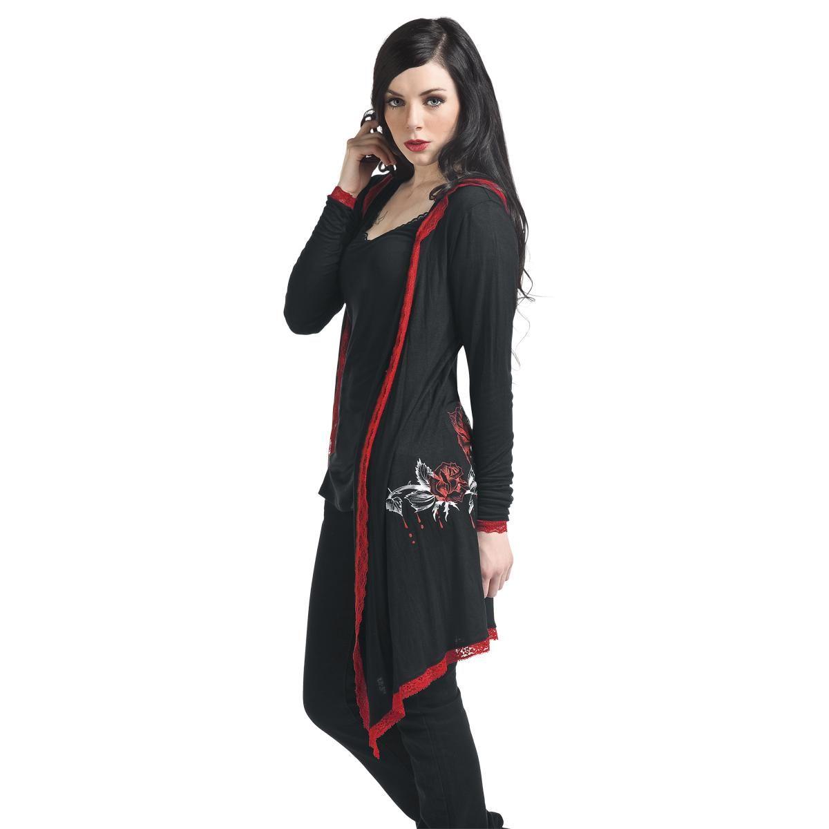 Girlie cardigan - Girlie cardigan af Floral Overlay Hood - Artikelnr.: 216547 - fra 199,95 kr - EMP Danmark ::: Merchandise ::: Streetwear ::: Modetøj