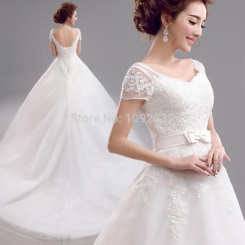 s 2016 new stock plus size bridal gown wedding dress Korean Lace ...