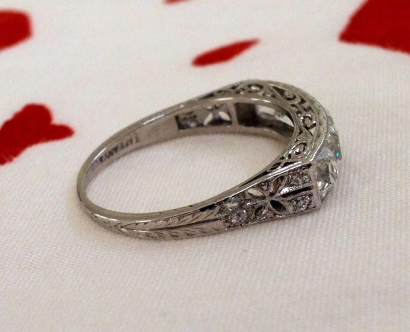 8bf2ef06ea292 JOTW - Vintage Tiffany & Co French Cut 5 Stone | Antique Engagement ...