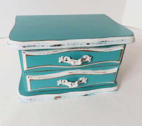 Upcycled Jewelry Box Ladies Girls Small Jewelry Chest Annie Sloan
