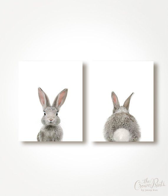 Set of 2 Bunny Prints – Printable Wall Art