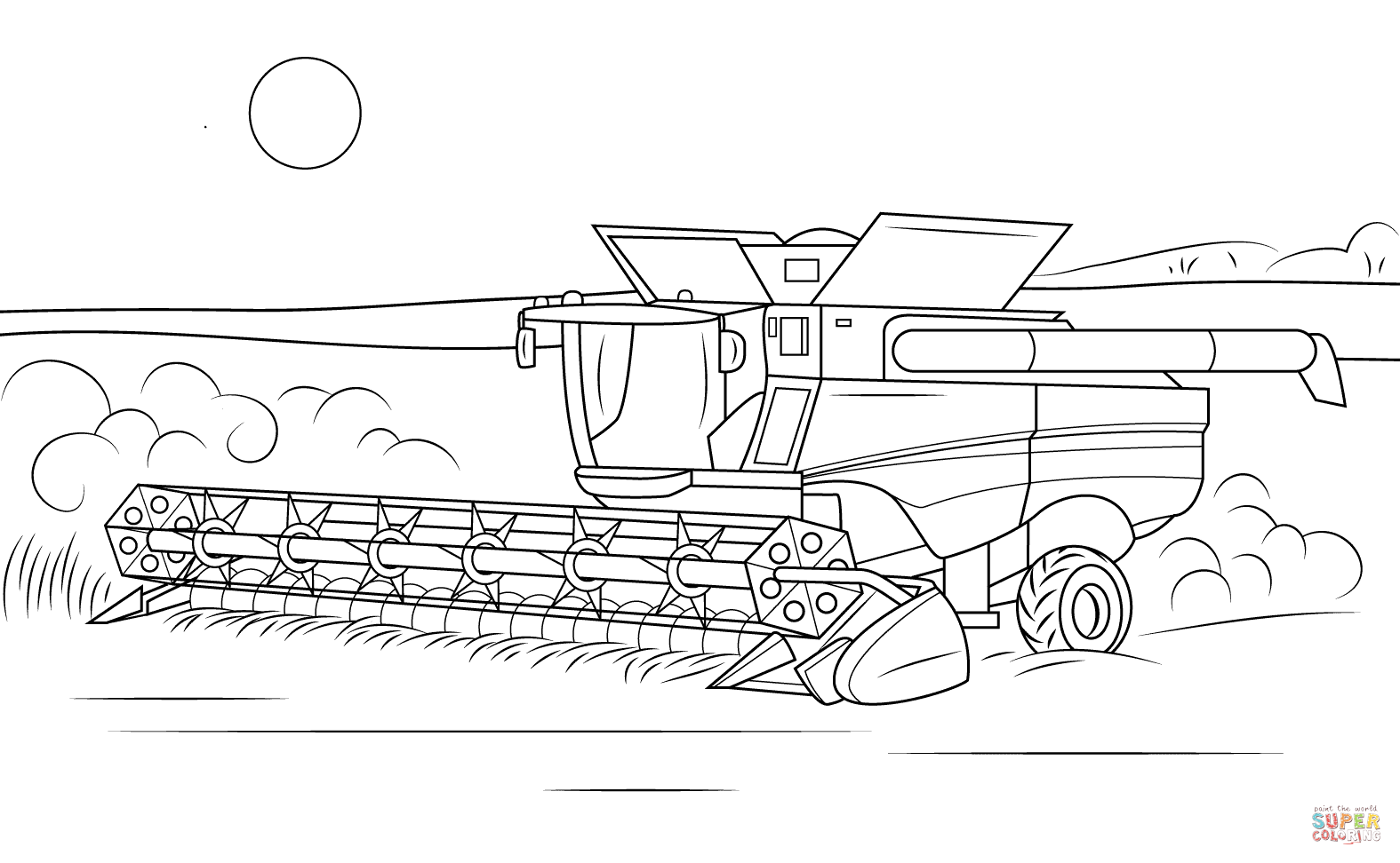 combine coloring pages John Deere Combine Coloring Pages Combine Coloring Page to for  combine coloring pages