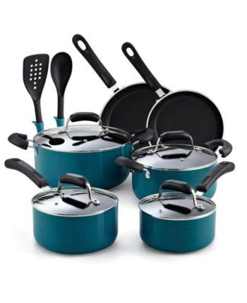 N Cook Home 12 Piece Nonstick Soft Handle Cookware Set Cookware