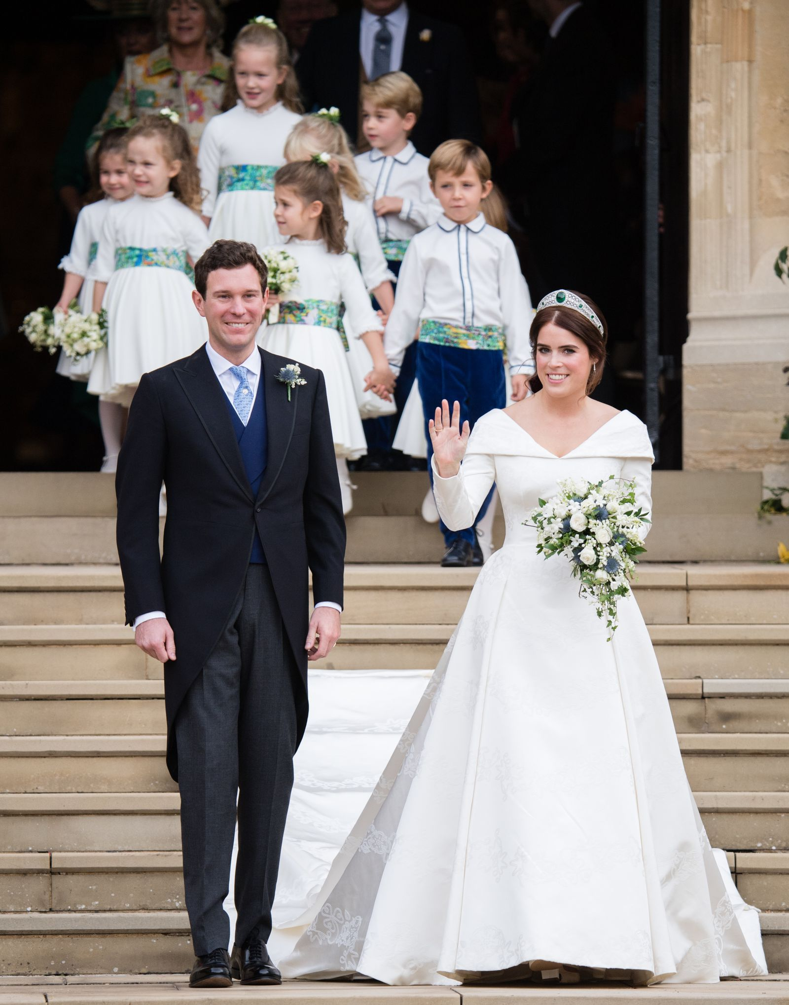 12 Things You Missed About Princess Eugenie S Wedding Dresses Wedding Dresses Princess Beatrice Wedding Royal Wedding Gowns [ 2037 x 1600 Pixel ]
