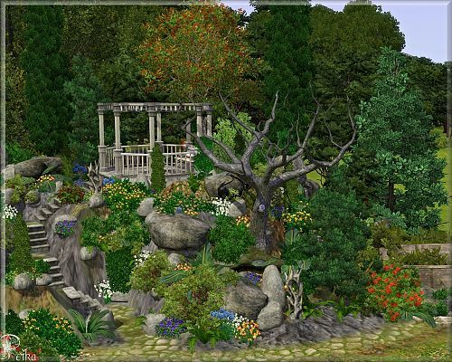 Petka Sims3 Rock Garden Tips And Download By Petka Sims Landscape Xeriscape Landscaping