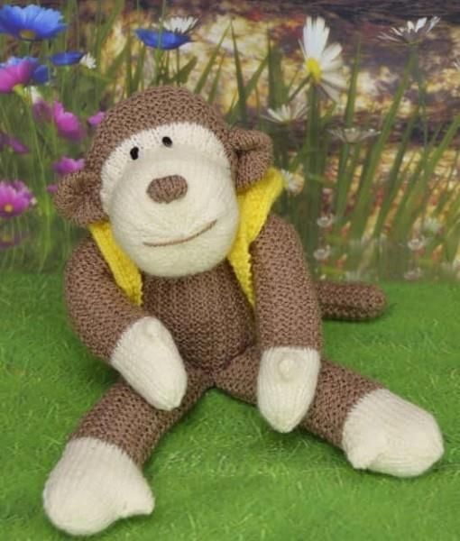 Knitting Pattern Toy Monkey Double Knit Kbp 212 Double