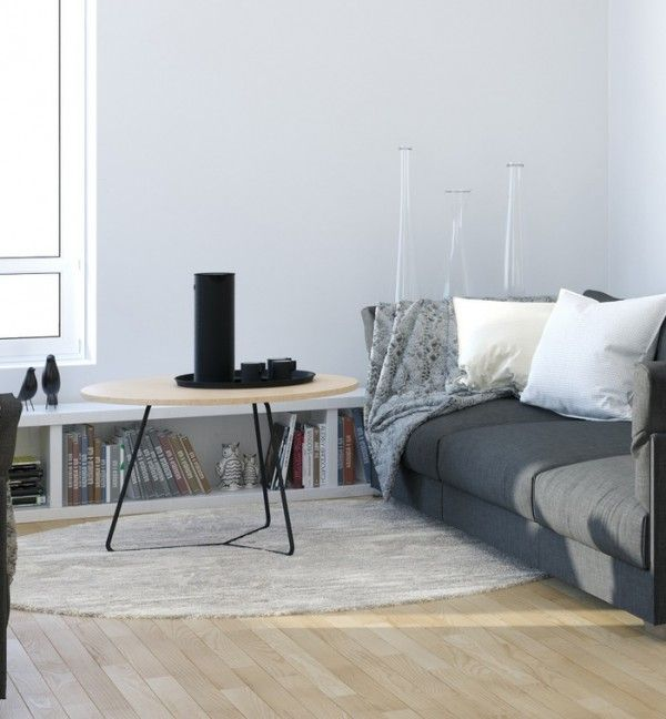 Scandinavian Interior Apartment With Mix Of Gray Tones: Scandinavian Studio Apartment
