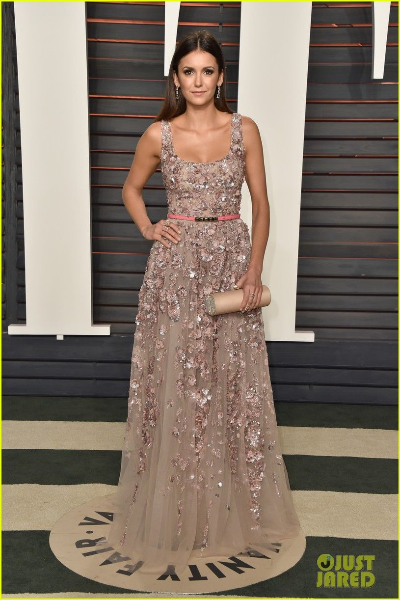 Nina Dobrev at  Vanity Fair's Oscars