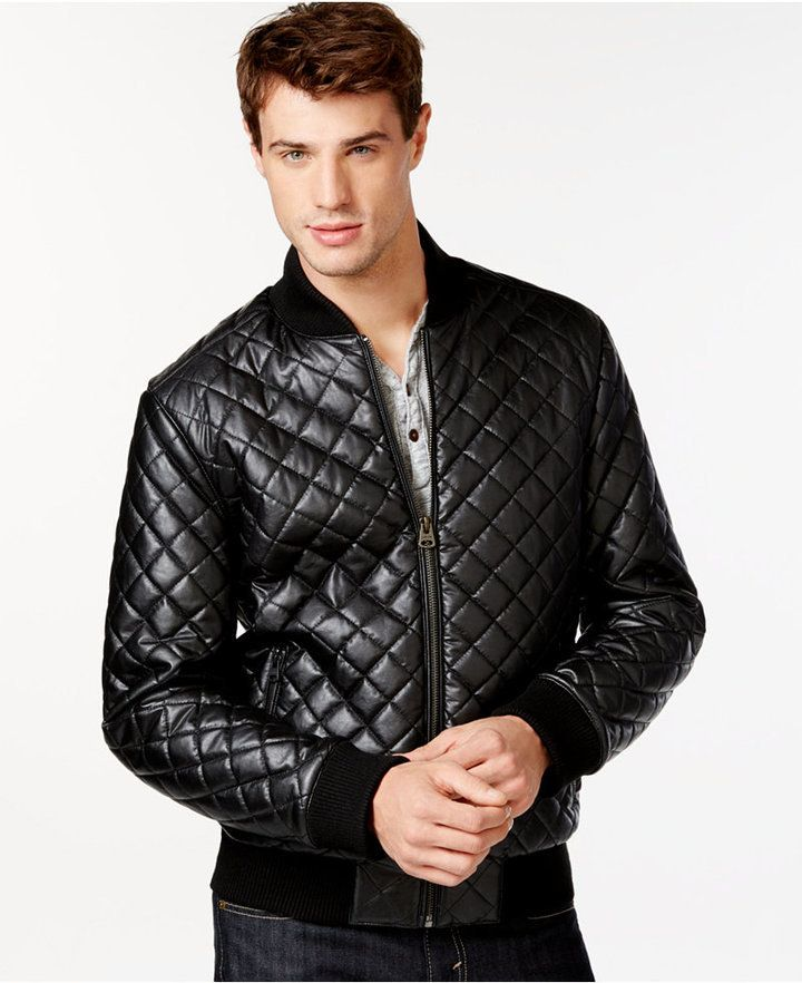 Diamond Quilted Bomber Jacket | Diamond quilt and Man shop