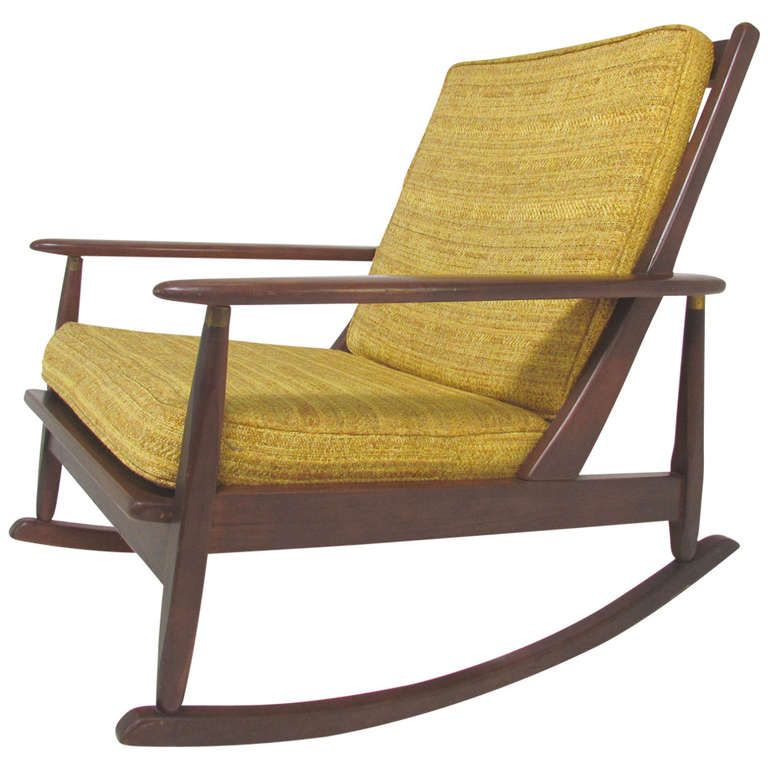 Mid Century Modern Paddle Arm Rocking Chair Circa 1960 S With