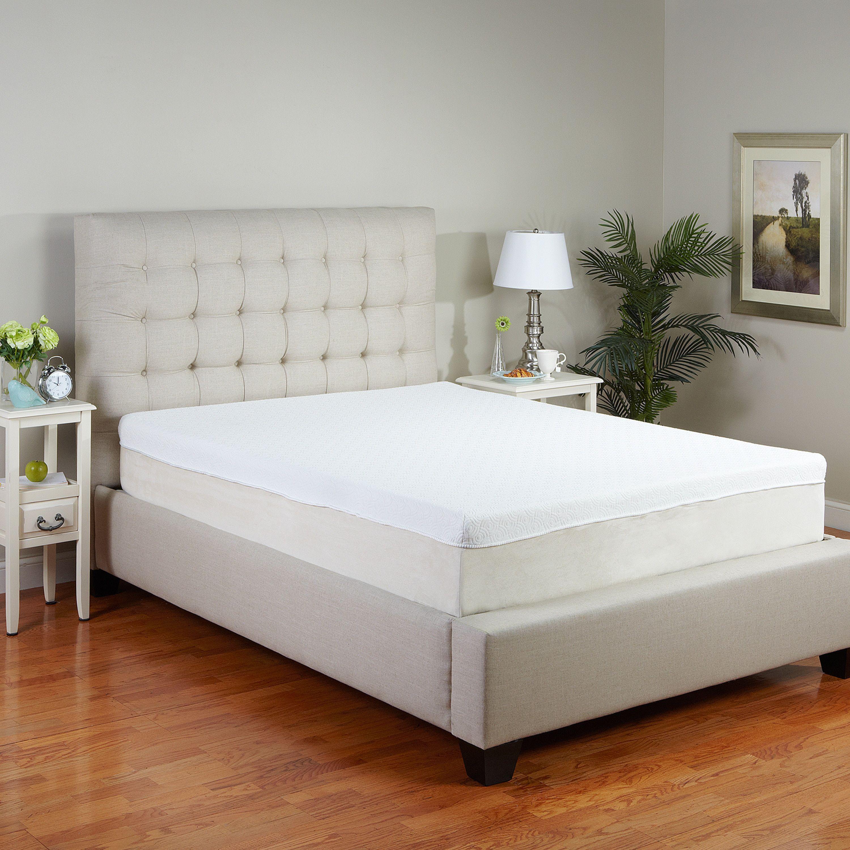 postureloft lucia 11inch cal kingsize memory foam mattress cal king white size california king