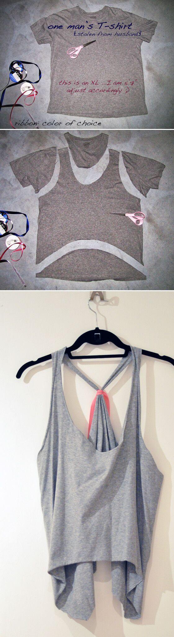 40 einfache keine Nähen DIY Kleidung Hacks, Designs und Ideen - Luisa Pi Sa #nosewshirts