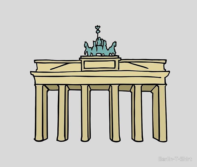 Brandenburg Gate In Berlin Ii Brandenburg Gate Berlin Embroidery Art