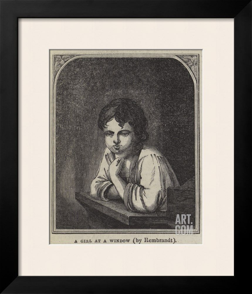 A Girl at a Window Giclee Print by Rembrandt van Rijn at Art.com ...