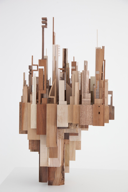 galeria de arte e arquitetura  cidades e paisagens urbanas constru u00eddas com res u00edduos de madeira