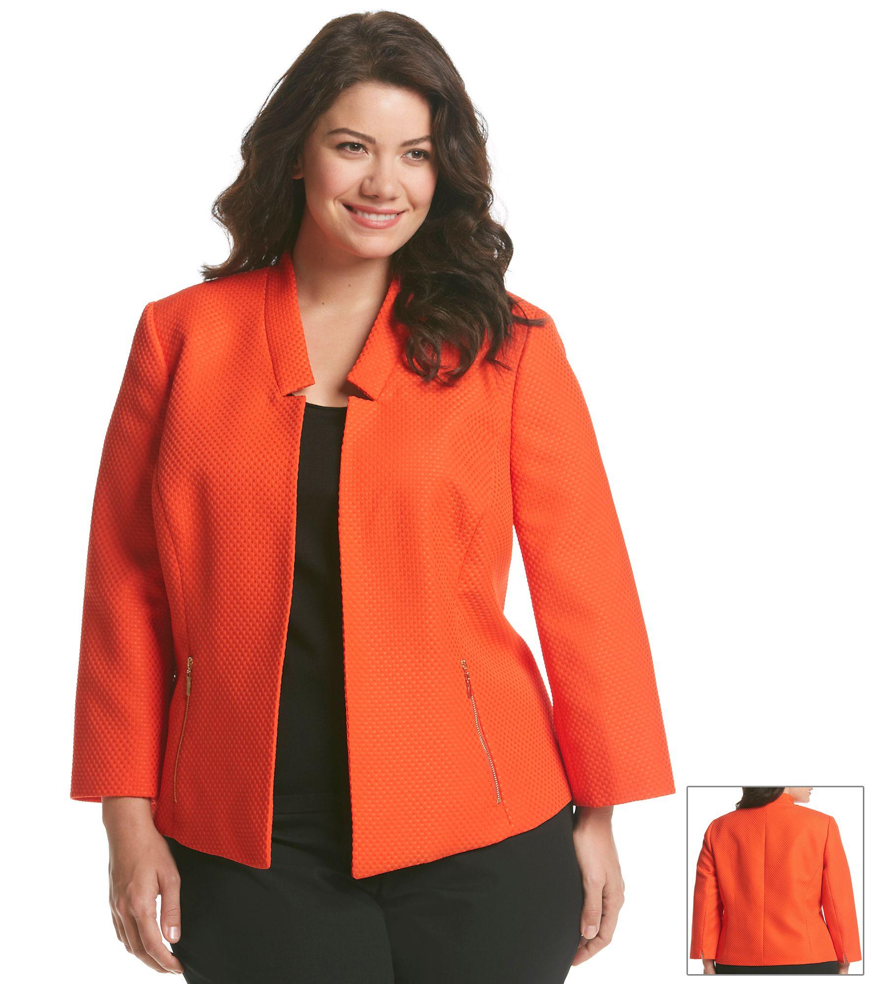 Kasper® Plus Size Textured Blazer