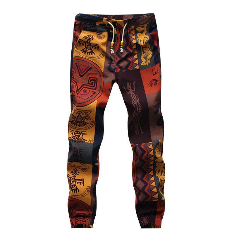 Tribal Drawstring Pants