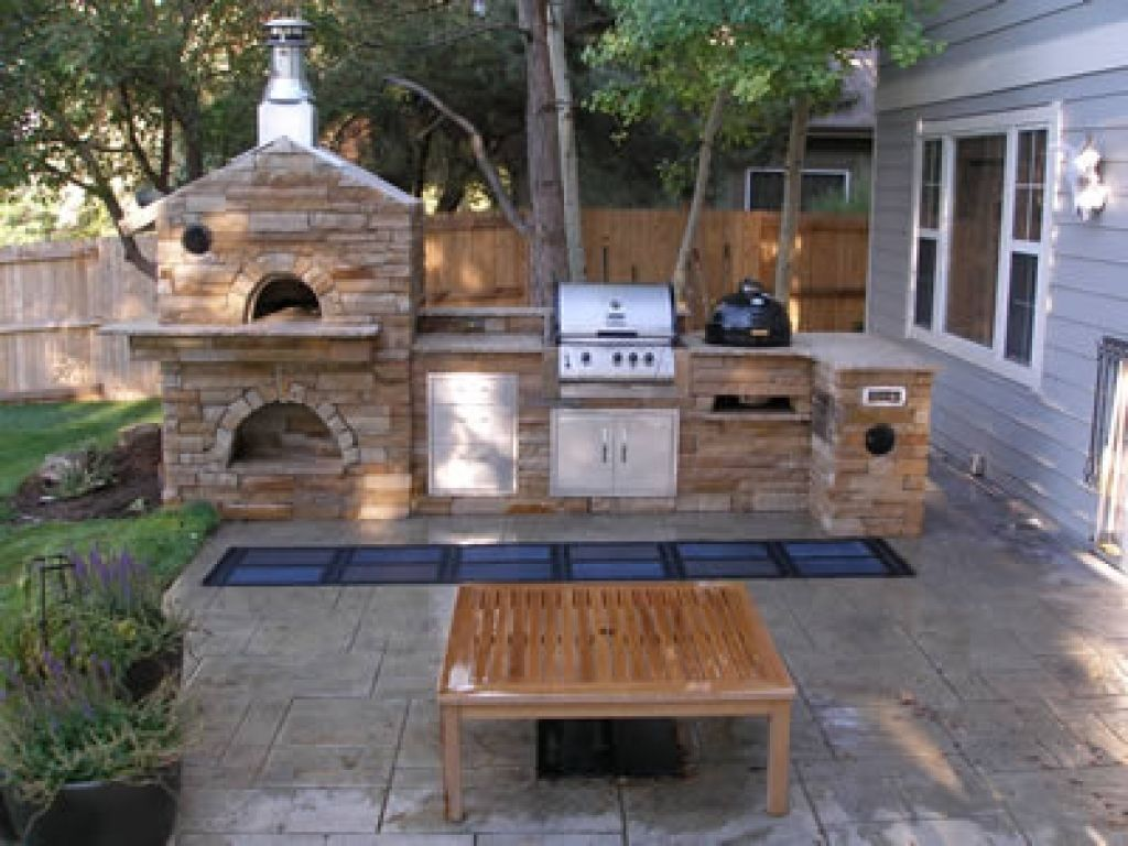 Outdoor Kitchen Designs With Pizza Oven Stylish Design Outdoor