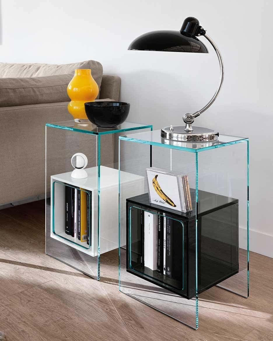 Fiam Magique Mq 32xb Coffee Table In Glass With Opal White Cube By Studio Klass Coffee Table Glass Side Tables Contemporary Coffee Table [ 1170 x 936 Pixel ]