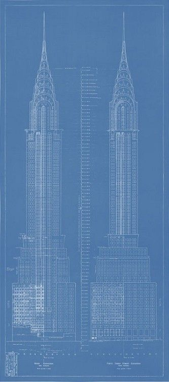 Chrysler building blueprint cubicity 3d product examples this chrysler building blueprint is part of a limited edition collection of exclusive new york city blueprints the chrysler building is one of five iconic malvernweather Gallery