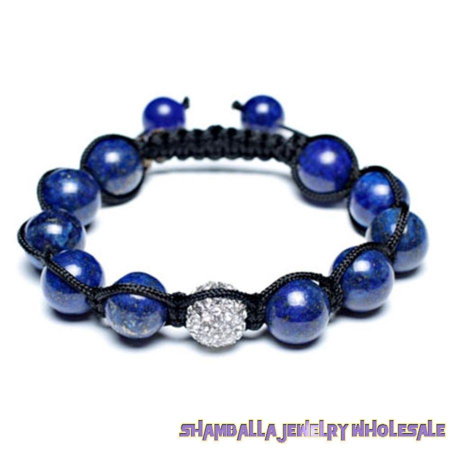 Lapis Lazuli Unisex Shamballa Bracelet Swarovski Crystal Beads 12mm $22.00 - Lapis Lazuli Unisex Shamballa Bracelet Swarovski Crystal Beads 12mm [sbr-6032]:$22.00---shamballa jewelry wholesale