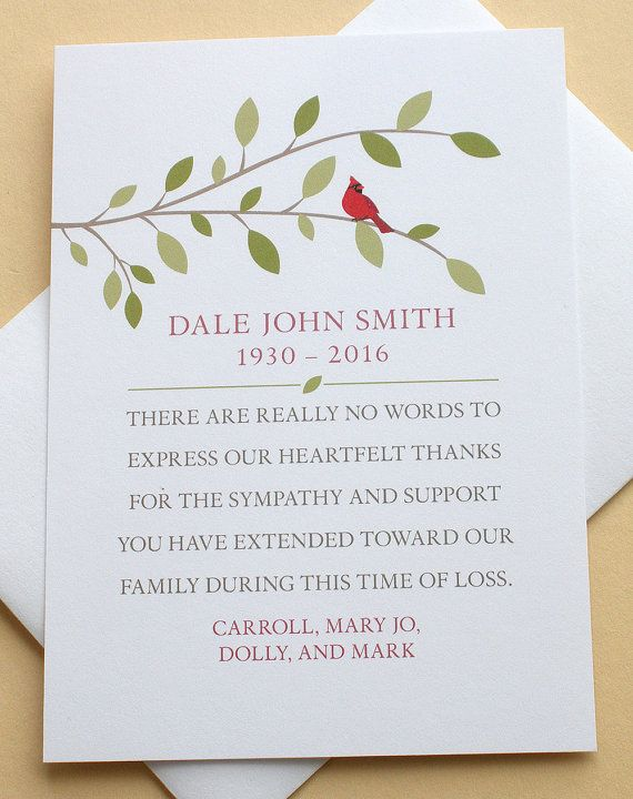 personalized sympathy thank you cards