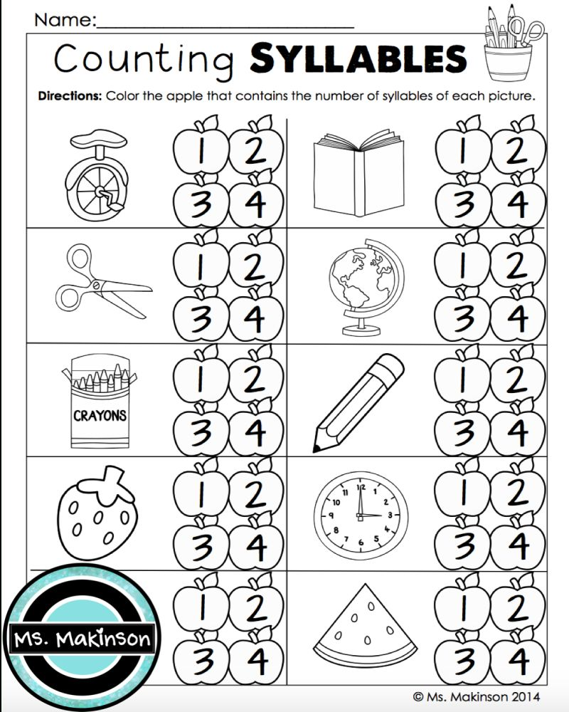 Back To School Math Worksheets 1st Grade Free Printable in