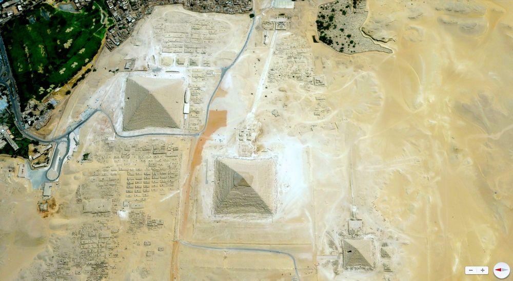 Giza Necropolis Cairo Egypt Earth Satellite This Complex Of