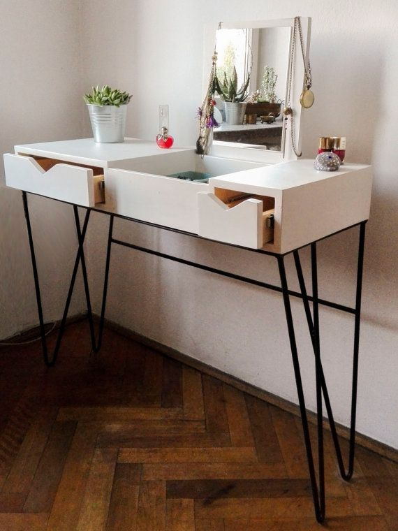 Dressing Table // Modern Furniture // Black And White // Girly Staff