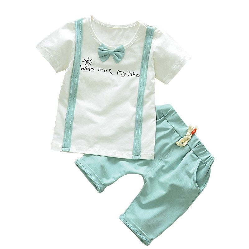 28a085cd5 BibiCola Baby Boys Clothing Sets Newborn Children Clothes Sets For Boy  Short Sleeve Shirts+Pants Toddler Boy Beach Tracksuit Set