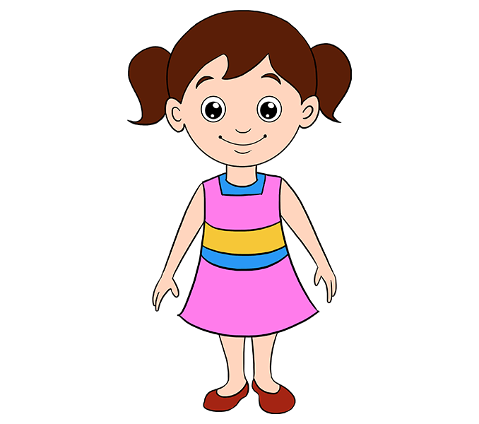 How To Draw A Cartoon Girl How To Draw People Girls Boys