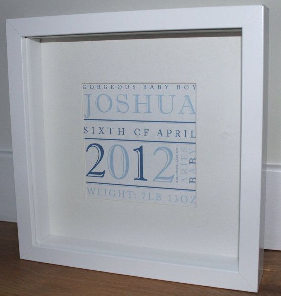 Personalised name print for a new baby framed bespoke babies gorgeous personalised new baby gift bespoke baby name frame on etsy negle Gallery