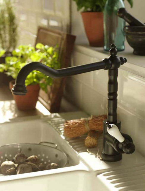 Vintage tap on farmhouse sink | Ikea. Can\'t believe the faucet is ...
