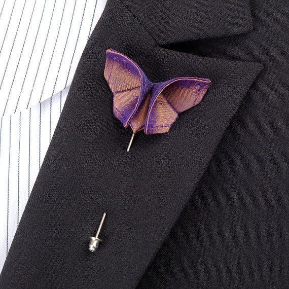 Custom Boutonniere Silk Origami Butterfly Wedding by SewSmashing, $18.00