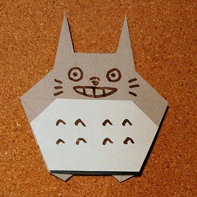 トトロの折り紙の折り方 簡単に折れる作り方をご紹介 イクメン主夫の役立つブログ トトロ 折り紙 折り紙 簡単 子供 折り紙 簡単