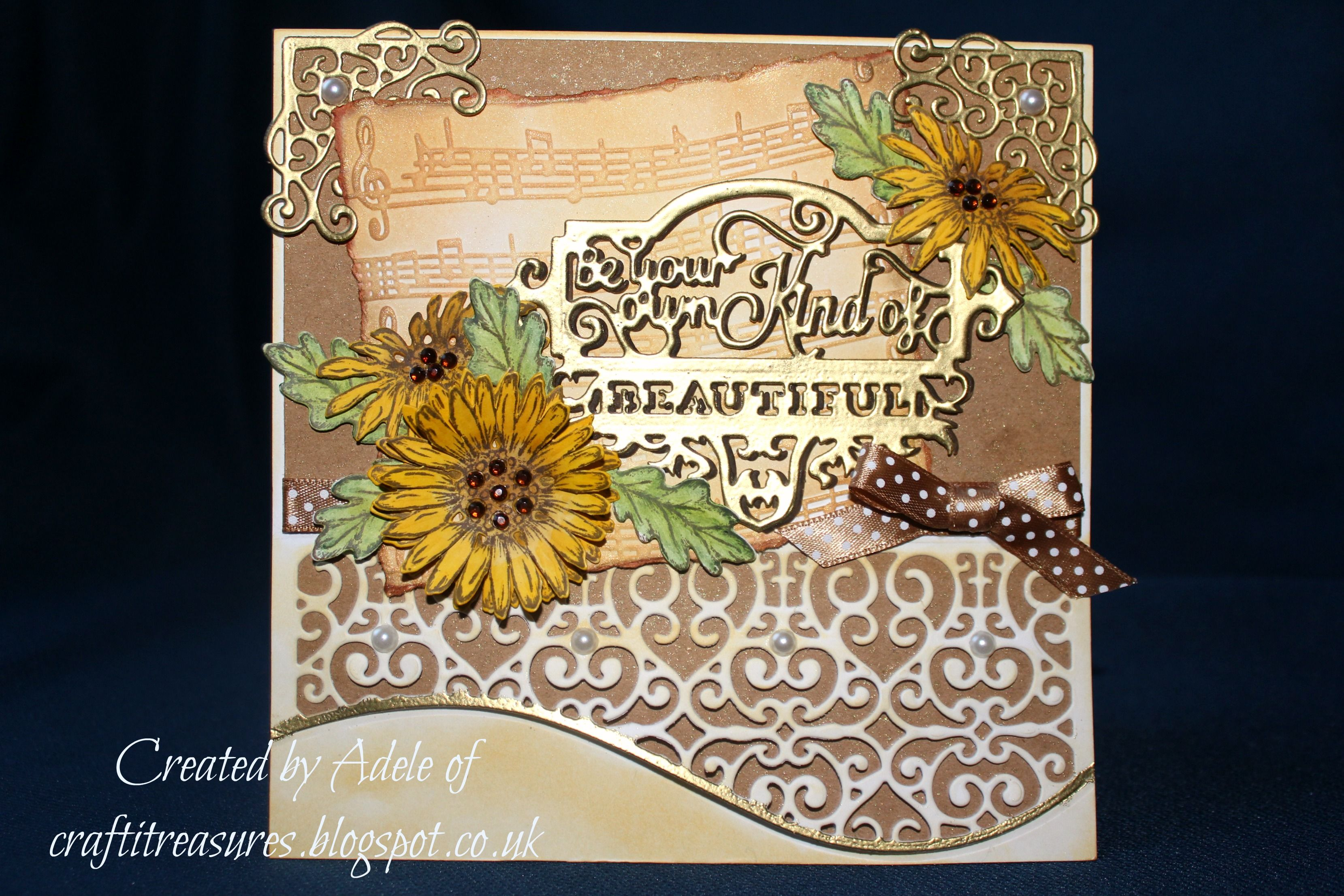 Created with Crafter's Companion Downton Abbey dies, Die'sire Prestige sentiment die, Sheena Douglass stamps and dies.