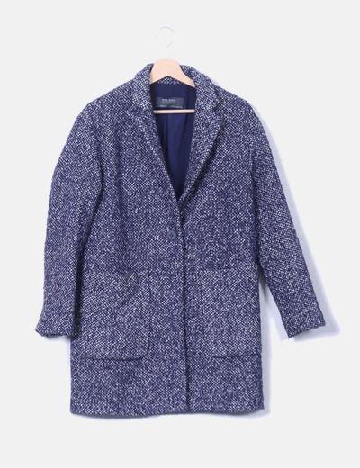 Abrigo tweed azul jaspeado  5a218328367d