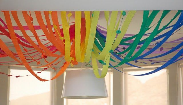 rainbow party decorations!