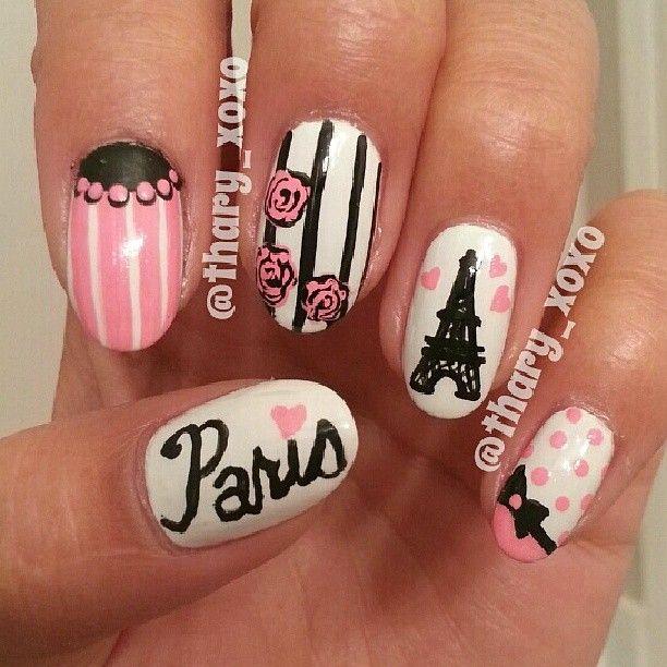 paris by thary_xoxo #nail #nails #nailart   Things to Wear ...